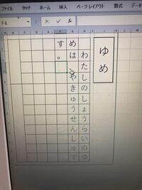 エクセルを原稿用紙のように使い、タイピングで使えるようにしたいです。 句読点や「ゃ」「ぅ」などの小文字が、中央にきてしまい困っています。 どなたか知識をおかしください。