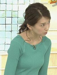 ここんところ和久田真由子は美乳を強調したニット姿を披露しませんね。 セクシー路線は桑子真帆に譲ったんでしょうか?