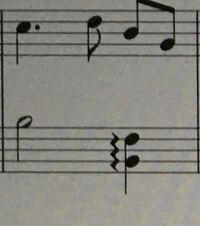 左手のアルペジオと右手のシってどういうタイミングですか?アルペジオの最初の音と右手のシが重なりますか?