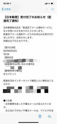 日本郵便の配達完了メール通知サービスについて質問です。 これは配達が完了したと言う事でいいのですか?