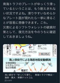 スロースリップがおこると 大地震が近いんですか?  南海トラフ地震もうそろそろ 発生するんですかね