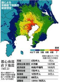 この首都直下型地震の震度を見て、どう思いますか