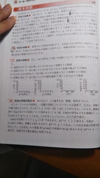37の(1)について、気体の状態方程式を変形した式をお願いします。