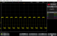PWM制御における電圧波形について  電源電圧12Vに対して、Duty50%でPWM制御をし、負荷の場所で測定をしたところ、写真のような最大電圧6VのPWM波形が観測できました。 そこで質問なのですが、入力12Vに対して出力の最大が6V、と半分の値になったのはDuty比が50%だからという訳ではないですよね? 実際に他のDuty比で測定しても同じく最大は6Vでした。となると理由としては...