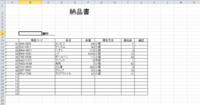 納品書をデータシートに転記する際に自動で番号と転記日時も入力 画像のような納品書を作成しました。 納品書作成後、マクロを実行すると、「納品履歴」というシートに転記させ、マクロの実行回数を納品書NO(1...