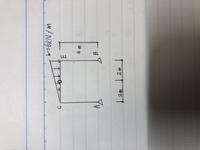 建築構造設計について至急です!! この問題のHA,HBの求め方を教えてください 急いで書いたので汚いですがよろしくお願いします