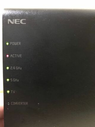 Wi Fiが急に繋がらなくなりました アクティブのランプが赤の点滅をして Yahoo 知恵袋