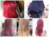 美容院でヘアカラーをするのが初めてです。 ブリーチを1回してもらってその後に色を入れてもらう予定です。ブリーチ1回ならこの中のどれが1番写真の通りになるでしょうか??  あと、ブリーチ1回でできる限界の明...