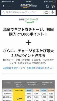 Amazonで今こんなキャンペーンがあるのですが、Amazonギフトカードの5000円以上をチャージすれば1000ポイント貰えるということですか?