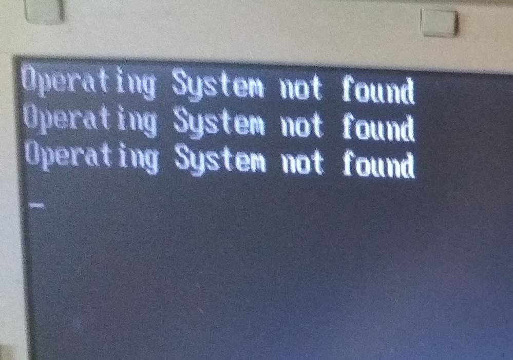 古いパソコンですが以下のサインが出て動作しません。どうしたら動くでしょうか?