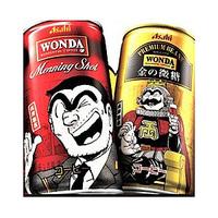 缶コーヒーの「WONDA」モーニングショット・金の微糖に両津の絵が描かれていました。 皆さんはもう飲みましたか?