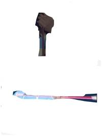 バトントワリング、バトン部とかで使うこのバトンの特定をお願いします。 縁は普通の他のやつと変わらないんですが持つ部分がピンクっぽい色で購入したいのですが……