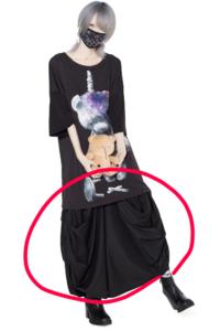 歌い手のゆきむらさんのような服装についてなんですけど下のスカート?のようなものの名前が知りたいですm(_ _)m