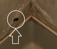 風呂場の壁に穴が開いています。 補修するための穴埋め材は何を選べばよいでしょうか。