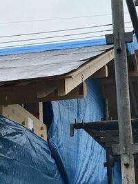 アイフルホームで新築 屋根のルーフィングって、端っこは止めないんですか?
