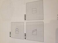 三角図から等角投影図への作成  とても苦手です。 どのような点を基準とし考えたらいいのかわかりません。 この等角投影図はどのようになるのでしょうか。 教えてください。 よろしくお願 いいたします。 ...