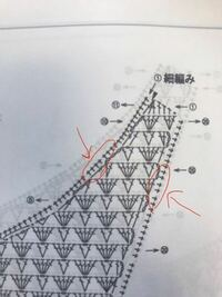 編み図について教えてください。この図の端に十字架のような記号が並んでいるのですが、これは模様編みが終わった最後に端を全て細編みで編んでいくということでしょうか。