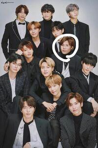 写真   この写真の白い丸で囲っている方はどなたですか?  kpop bts txt bighit 防弾少年団