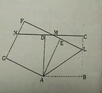 求め方を教えて下さい。  1辺の長き が15cmの正方ABCDがある。図のように、辺BC上に BL=10センチとなる点Lをとり、三角形ABLをALを 折り目として折り返したとき、点Bくる点 をEとする。AEを1 辺とする正方形AE...