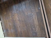フローリングの床にアルコール(パストリーゼ)をかけてしまい白くなってしまいました。 雑巾で拭いても戻らず、、、 元通りにするにはどうしたら良いですか?