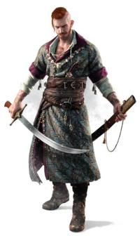 民族衣装? この画像のキャラクターが着ている服は、 どこかの国の民族衣装でしょうか  ちなみにポーランドのゲームのキャラクターですが、ポーランドの民族衣装では無いようです。