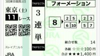 東京11R、スレイプニルSの添付馬券をどう思いますか?^^