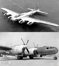 バックアップ用に液冷エンジンを乗せたB-17とB-29です。 バックアップ用の機体は分かりますけど、バックアップ用に別エンジンまで乗せる余裕がある国と戦争しちゃいけませんよね 。 やる前に負けると気付かなかったんでしょうかね?