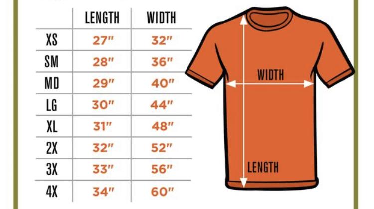 海外サイトで服を買いたいのですが サイズがわかりません。 largeサイズしか在庫が無いのですが この場合、着丈と幅は何センチくらいになるのでしょうか? ちなみにユニセックスのTシャツに なります。