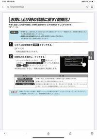 Panasonicの電話機の初期化のやり方で質問があります これは何の機種でのやり方でしょうか? また、VE-GD36DLでの初期化のやり方を知っている方がいれば、教えてください