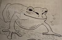 カエルの絵を描きました。評価お願いします。
