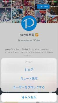 pixivで、マイピク申請の送り方を教えてください 調べたところ、この画面にあるはずなのに無いです スマホ(iPhone)です よろしくお願いしますm(*_ _)m