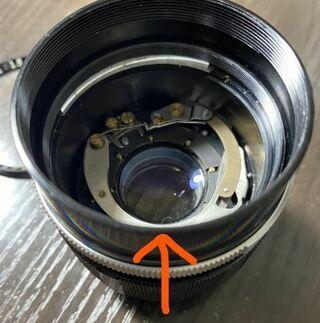 レンズ,かなり古いPEN Fカメラ,1.5 f,レンズ内部,カビ