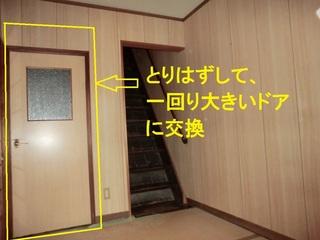 大工,新しいドア,半日,一回り,何時間,古いドア,施工