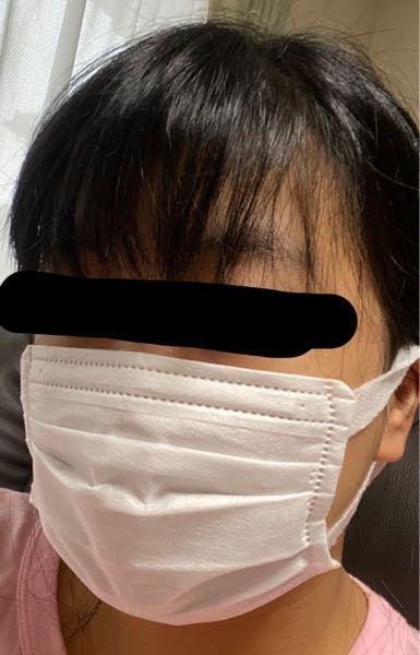 ユニチャームのマスクが普通サイズと小さめサイズどちらがいいか迷っています。画像は小さめサイズをつけ