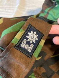 この階級章は、どれくらいの階級でしょうか。 韓国軍のジャケットをベトナムのマーケットで購入しました(2013年3月に旅行に行った際)。 この階級章はどれくらいの階級でしょうか。  お教え頂けますと幸甚です。 よろしくお願い致します。