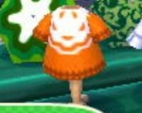 とび森の初期にあったこの画像のオレンジの服って何て名前でしたっけ?  あつ森でこの服、マイデザインで作りたいのですが、名前もドットも分からないので困ってます。 数年前にとび森を売っ てしまったので、...