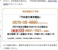 武蔵野年金事務所に予約の電話を入れたいのですが よく意味がわかりません…  どっちですか?