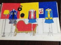 ヒプマイ 衣装イラスト 趣味の創作  画像のようなヒプマイの衣装イラストを描いてます 4ディビは描き終えたのですが、ナゴヤ オオサカの背景の、チーム&キャラモチーフのインテリアが思 いつきません  ...