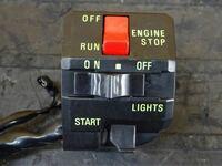 90年代以前のバイクのハンドル右側スイッチボックスによくあるライトのオン中間オフ3段回スイッチ、キルスイッチ、セルボタンがまとめて1つになってるスイッチボックスは新品で出てないんでしょうか?? ゼファー...