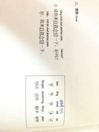 p.14上・この文と四角の中の単語の日本語訳を教えてください。