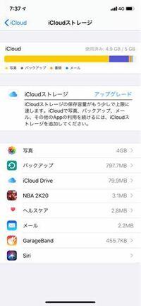 iCloudストレージがいっぱいなので写真のバックアップを消したいのですが、これを消したら写真は消えますか? ストレージが20GBくらい余ってるのでそっちにしたいです