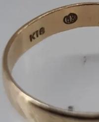 18金指輪の刻印ですが、K18の他に刻印があるのですが、メーカー刻印なのか不明です。 ご存知の方、いらっしゃいますか? また、メーカーが分かれば嬉しいです。 よろしくお願いします。