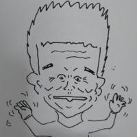 似顔絵を書いてみました。下手くそですが、誰か分かりますか?