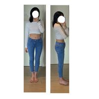 私は15歳女です。写真で不快になられた方はごめんなさい。  男性でも女性でも構いませんので、写真の体型(主に足)を見て思ったことを自由に書いて頂きたいです。(足が太い、お尻が大きいな ど何でもいいです...