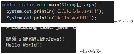 VScodeでプログラムの編集とターミナル操作を1つのウィンドウ上で実行しています。 編集画面とターミナルではUTF8を共通で使っているつもりですが、画像のようにターミナル上への出力が文字化けに...