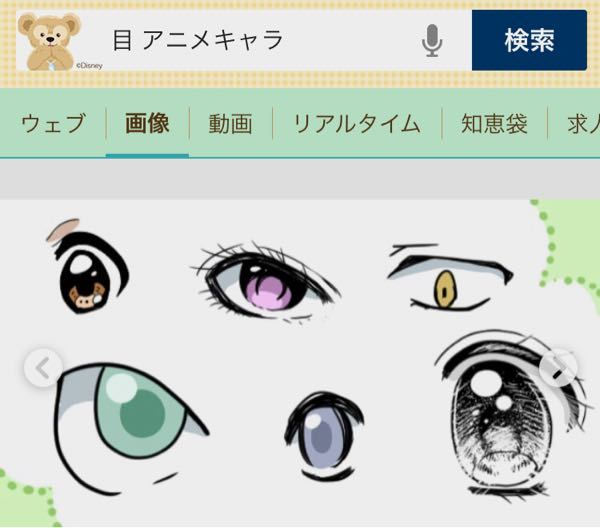 アニメキャラって、どうして非現実的な目をしているのですか? どう考えたって、こんな目無いだろう...