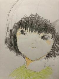 絵の評価ください。 シャーペンと色鉛筆で描きました。