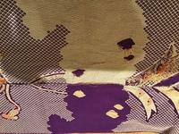 80〜90年前にわたしの曽祖母が着ていた振袖をリメイクしてます。 曽祖母は大正5年生まれでした。 模様は染めではなく、織り出しているようで、 疋田模様や雲取り模様が、布地の裏と表では鏡像のようになってま...