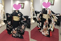 黒引き振袖の選び方について。  今年の秋に神社で挙式を予定しています。家族のみであまり派手に行う予定ではないため、黒の引き振袖を着ることにしました。かつら着用、角隠し。ここまでは決まっています。 で...