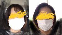 マスクのサイズ迷走中です。普通サイズは大きすぎて女性用はやや小さすぎて顔がはみ出ます。ちょうどいいサイズってないんですかね。右の画像は実際見たほうがもっと小さく見えます。両ほっぺがしっかりはみ出てます 。  写真のマスクのサイズは顔に合ってないですか?両方とも、これで外出しても恥ずかしくないでしょうか。  マスクが出回ってきてもうどこでも売ってますね。「これしかなくて」っていう言い訳が使えな...